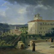 View Of The Villa Medici In Rome Art Print