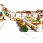 View Of The Village Art Print