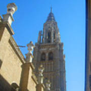 View Of Toledo Cathedral In Sunny Day, Spain. Art Print