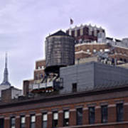View Of Water Tank From High Line Park Art Print