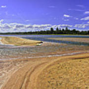 View Of Wollumboola Lake From Sand Dunes Art Print