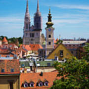 View Of Zagreb Art Print