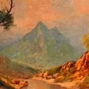 View On Blue Tip Mountain H A Art Print