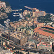 View On Monte Carlo On French Riviera Art Print