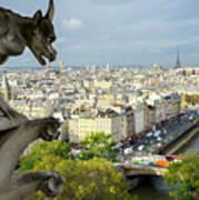 View On Paris City Art Print