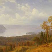 View On The Hudson Looking Across The Tappen Zee Towards Hook Mountain Art Print