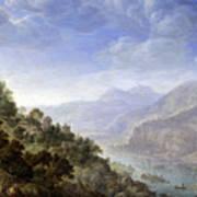 View On The Rhine Art Print