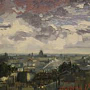 View Over Rooftops Of Paris Art Print