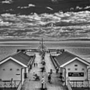 View Over The Pier Mono Art Print