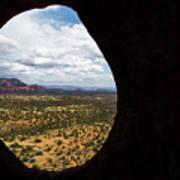 View Through A Portal, Sedona, Arizona Art Print