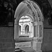 View Through An Arch Art Print