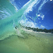 View Through Wave Art Print