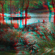 View To The Cove - Use Red-cyan 3d Glasses Art Print