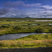 View Towards Lake Myvatn Iceland Art Print