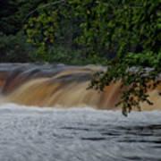 Viewing Tahquamenon Lower Falls Upper Peninsula Michigan 02 Art Print