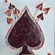 Vikings Ace Of Spades Art Print