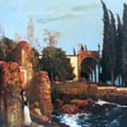 Villa By The Sea 1878 Art Print