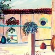 Villa De Azul Art Print