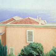 Villa With Cypress Trees Art Print