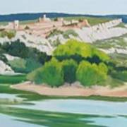 Village Above L'ardeche  Art Print