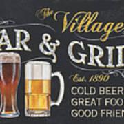 Village Bar And Grill Art Print