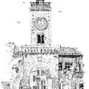 Village Gate In Old Le Thor France Art Print