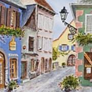 Village In Alsace Art Print