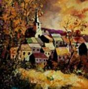 Village In Fall Art Print