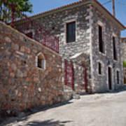 Village In Greece Art Print