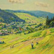 Village In The Foothills Art Print