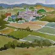 Village In Tuscany Art Print