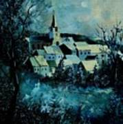 Village In Winter Art Print