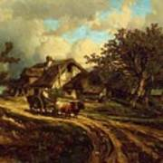 Village Landscape 1844 Art Print