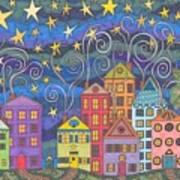 Village Lights Art Print