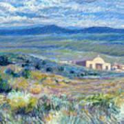 Village Mission Near Taos Art Print
