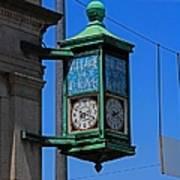 Village Of Elmore Clock-vertical Art Print