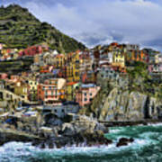 Village Of Manarola - Cinque Terre - Italy Print by JH Photo Service