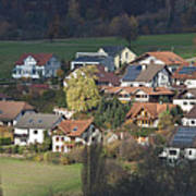 Village Of Residential Homes In Germany Art Print by Greg Dale