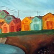 Village On The Coast Art Print