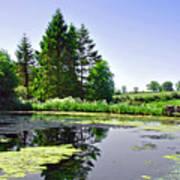 Village Pond At Tissington Art Print