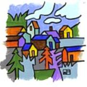 Village Scene Art Print