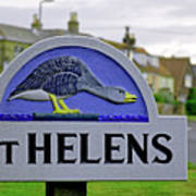 Village Sign - St Helens Art Print