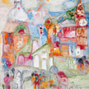 Village Square Art Print