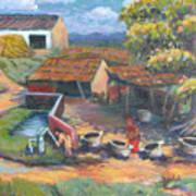 Village Stables Art Print