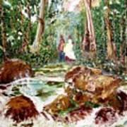Village Stream Art Print