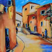 Village Street In Tuscany Art Print