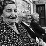 Village Women In Alberca Spain Art Print
