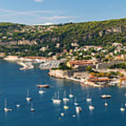 Villefranche-sur-mer And Cap De Nice On French Riviera Art Print