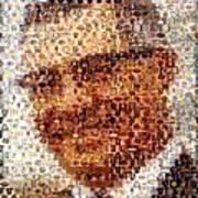Vince Lombardi Green Bay Packers Mosaic Art Print