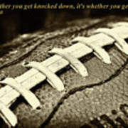 Vince Lombardi Quote Art Print